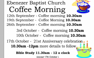 coffee morning dates Sep 17