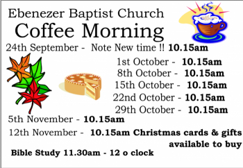 Coffee morning dates Oct19